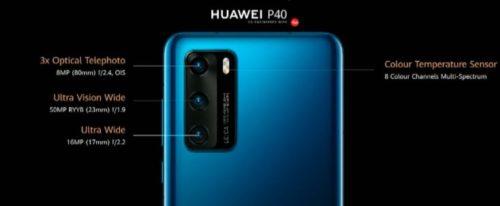 Especificaciones de la cámara del Huawei P40