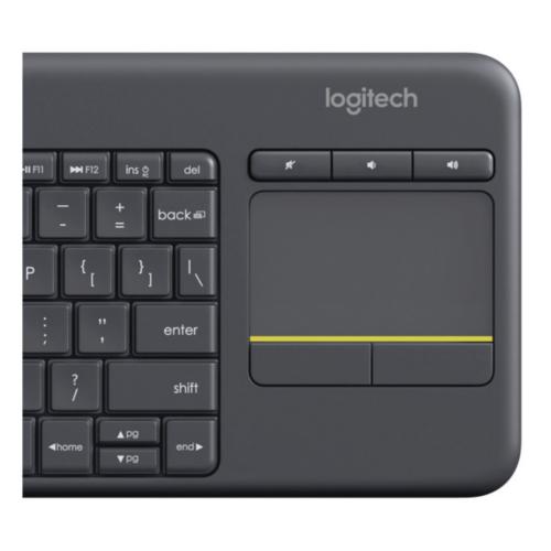 Panel táctil del teclado inalámbrico Logitech K400 Plus