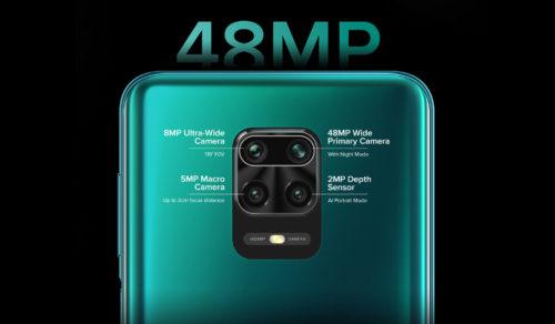 Especificaciones de la cámara del Redmi Note 9