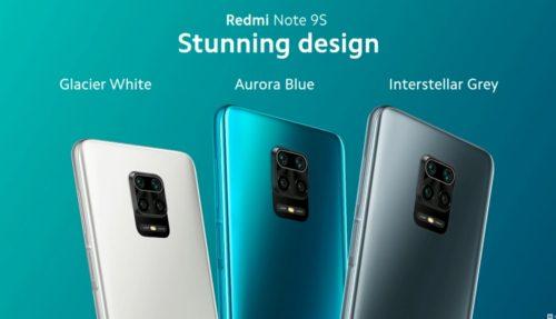 Colores del Redmi Note 9S