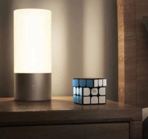 Cubo de Rubik Inteligente de Xiaomi y lampara de mesa