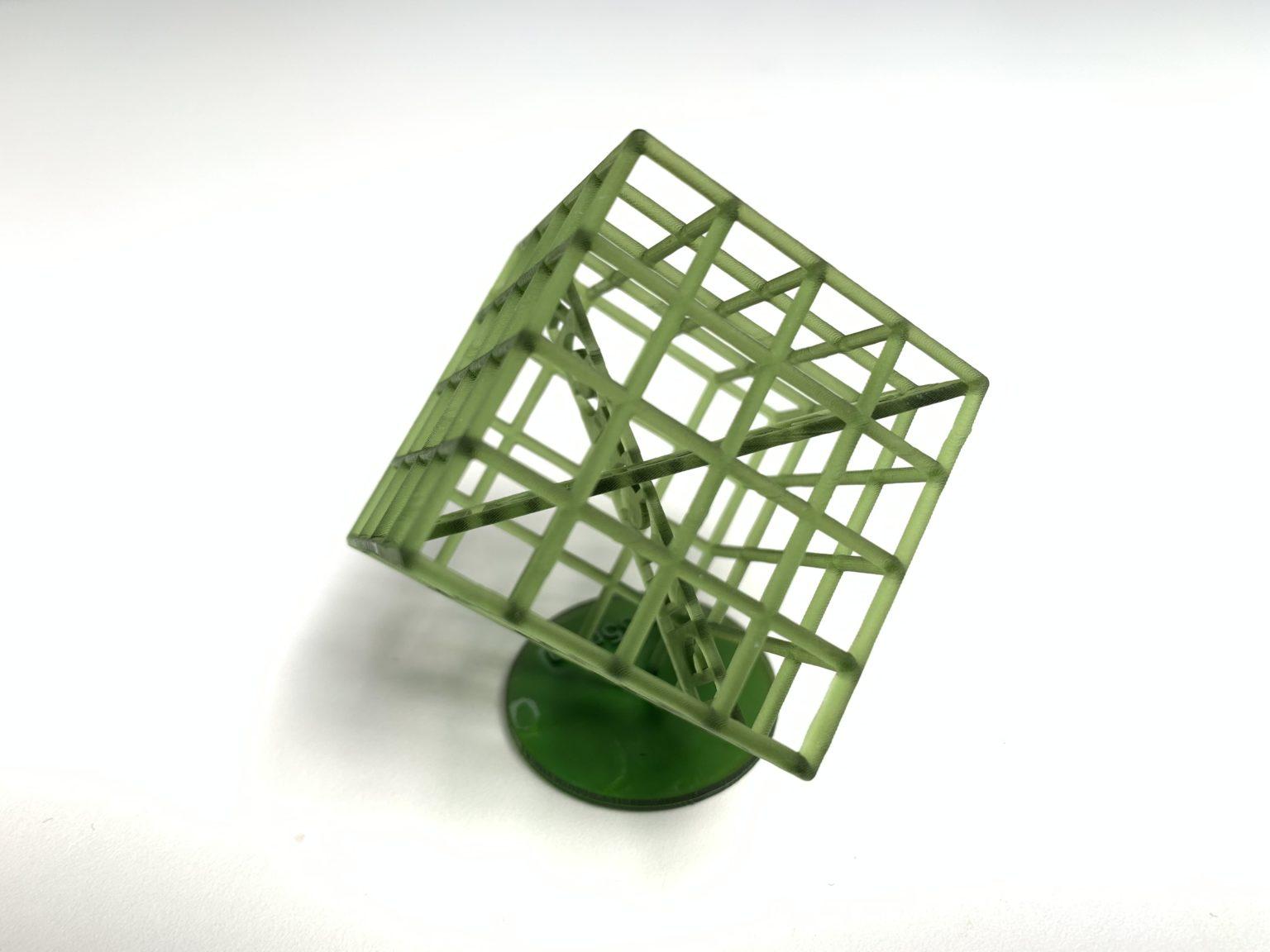 Cubo 3D impreso con la Anycubic Photon Zero