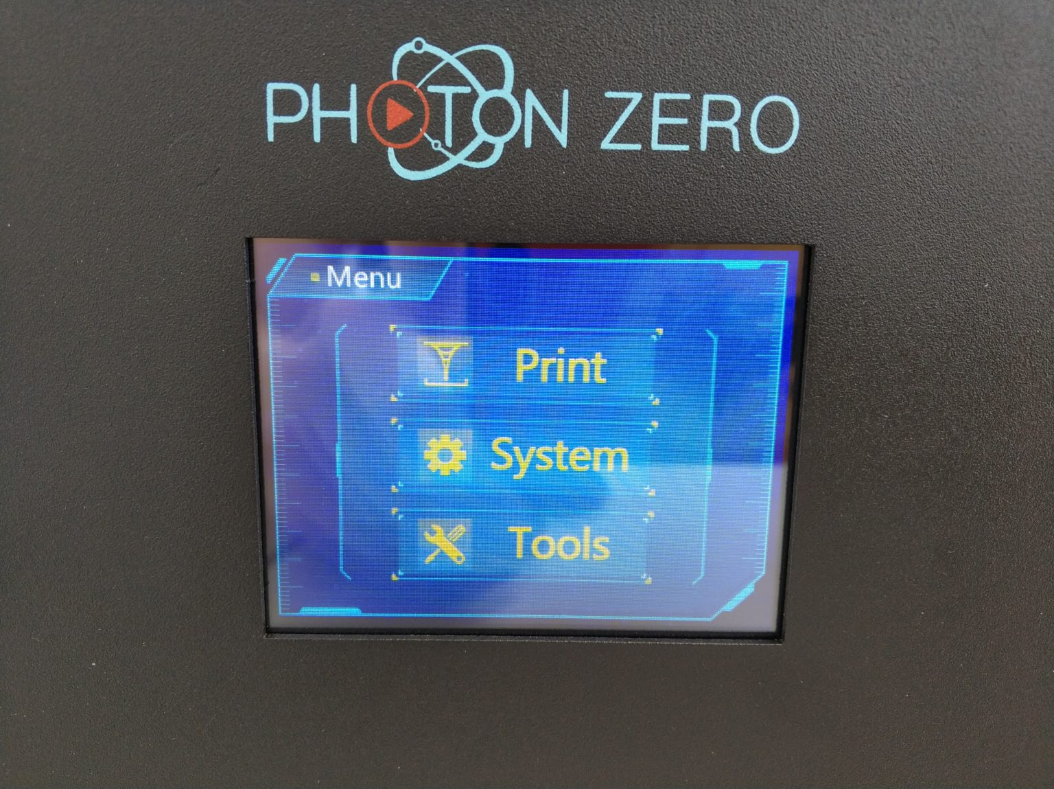 Pantalla de la Anycubic Photon Zero