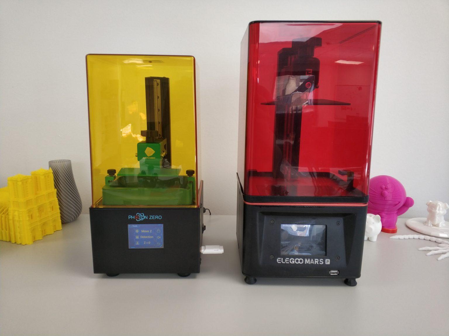 Impresora SLA Anycubic Photon Zero y Elegoo Mars Pro