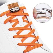 Cordones con cierre magnético en naranja