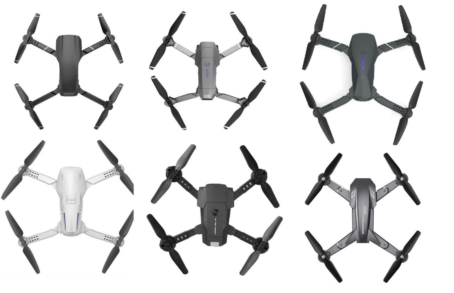 Diversos drones de China clones de DJI
