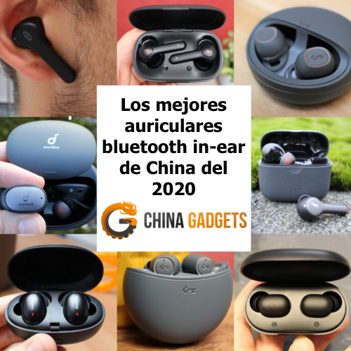 Foto de distintos auriculares bluetooth in-ear