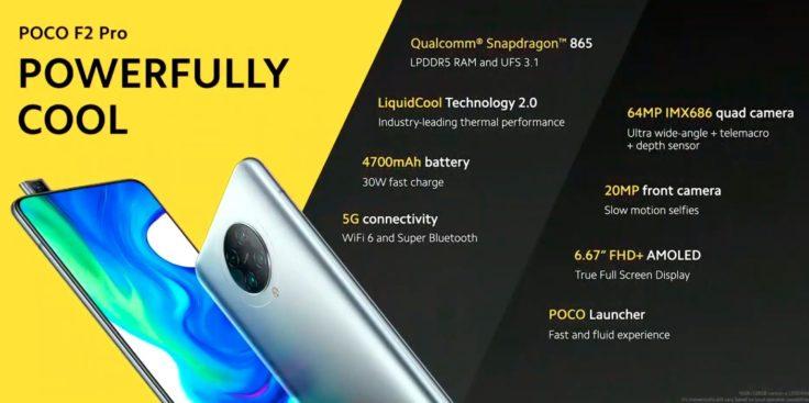 Especificaciones del Pocophone F2 Pro