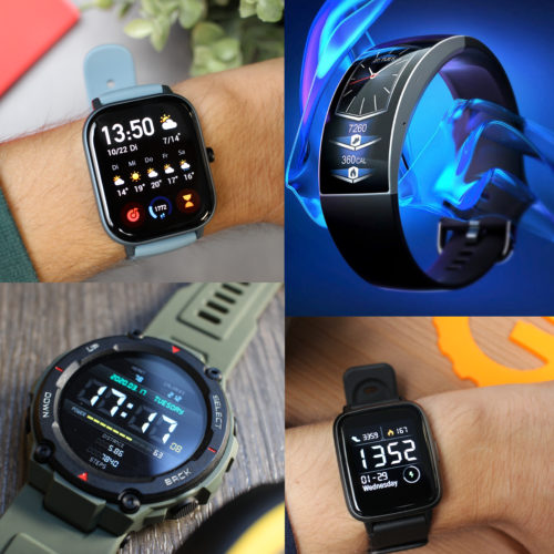 Distintas pulseras de actividad y smartwatches