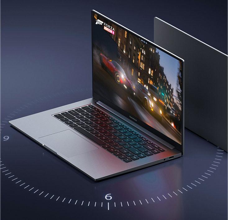 Ordenador Portatil RedmiBook 2020 visto desde un lateral