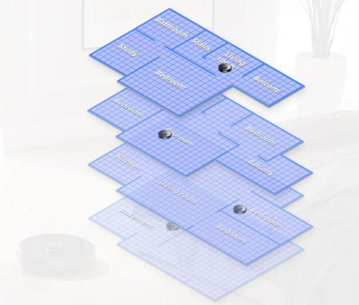 Mapeado de varios pisos en la App del Roborock S6 MaxV
