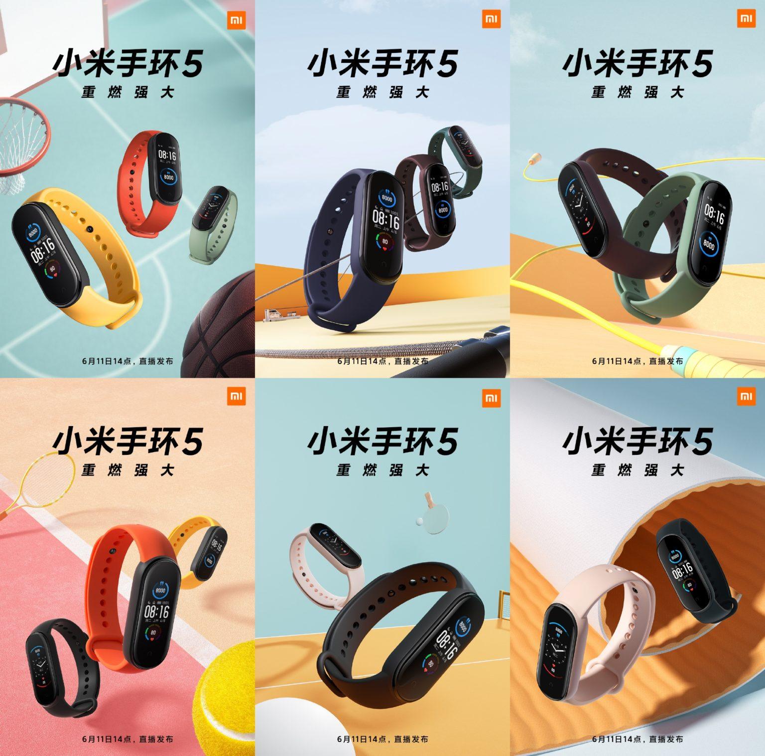 Modos de deporte de la Xiaomi Mi Band 5