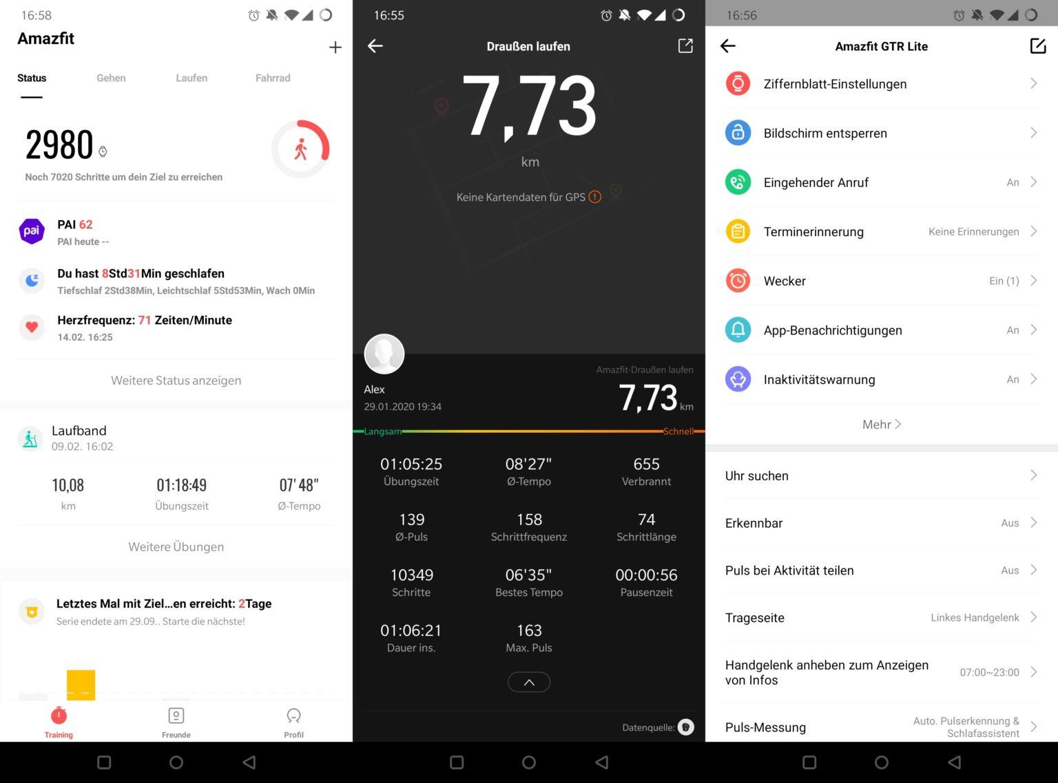 App del Reloj Inteligente Amazfit GTR Lite