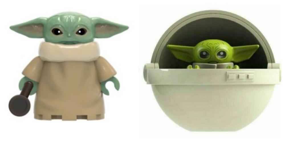 Baby Yoda Figura de juguete Con taza de cafe con cuna