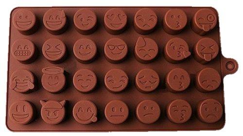 Molde para 28 hielos con forma de distintos emojis