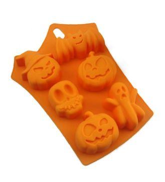 Molde para hielos con formas de Halloween