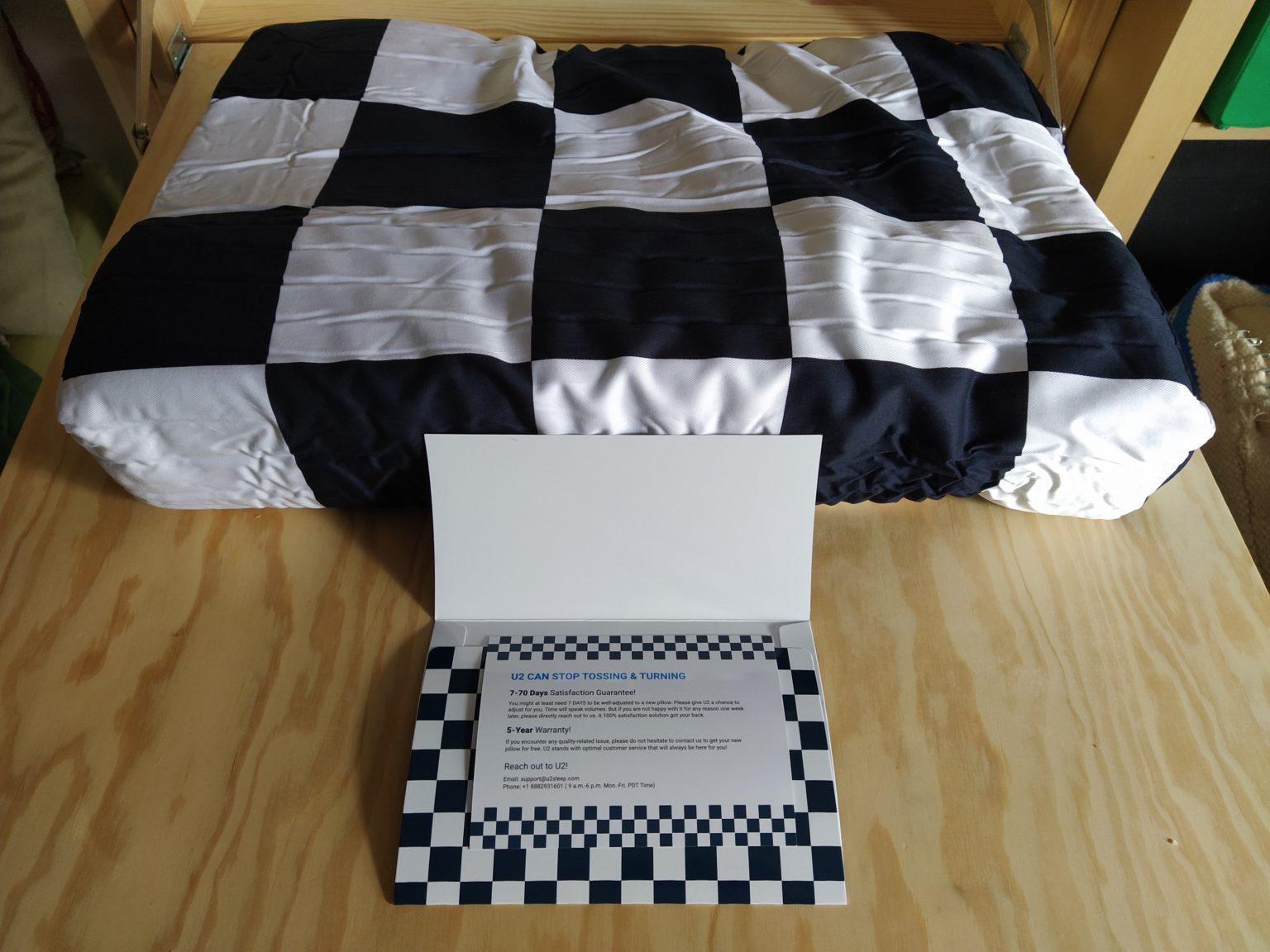 Garantía de la almohada viscoelastica modular de U2