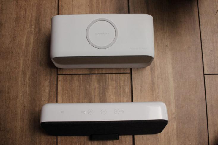 altavoz bluetooth Xiaomi con carga inalámbrica Qi y anker soundcore wakey