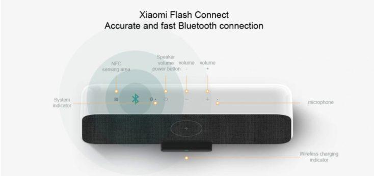 Funciones del altavoz bluetooth Xiaomi con carga inalámbrica Qi