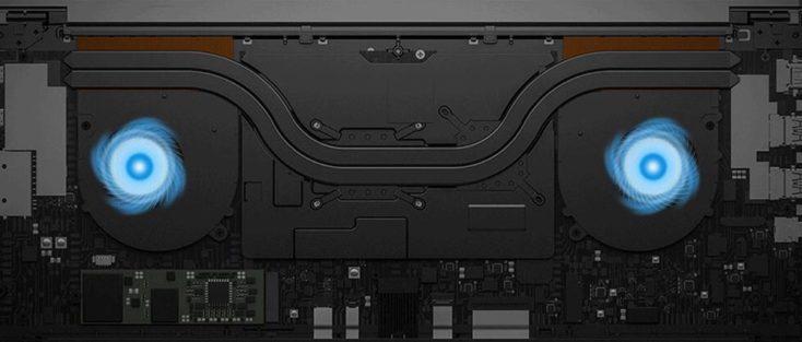 Sistema de refrigeración del Xiaomi Mi Notebook Pro 2020