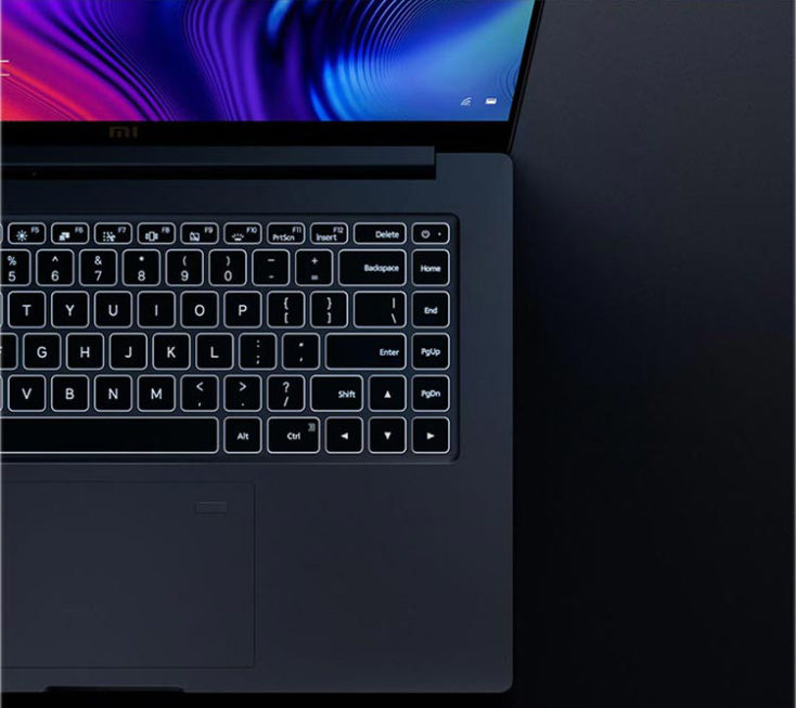 Teclado iluminado del ordenador portátil Xiaomi Mi Notebook Pro 2020