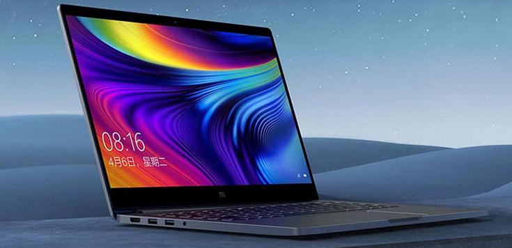 Xiaomi Mi Notebook Pro 2020 visto desde un lateral