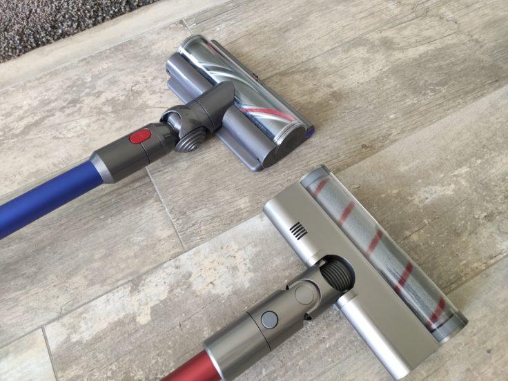 Rodillos de la aspiradora inalámbrica Dreame V11 y de la Dyson V11 Absolute