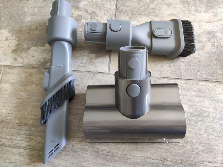 Cepillos adicionales y accesorio antiácaros de la aspiradora inalámbrica Dreame V11