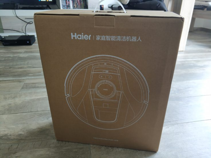 Caja del Robot aspirador Haier Tab Tabot