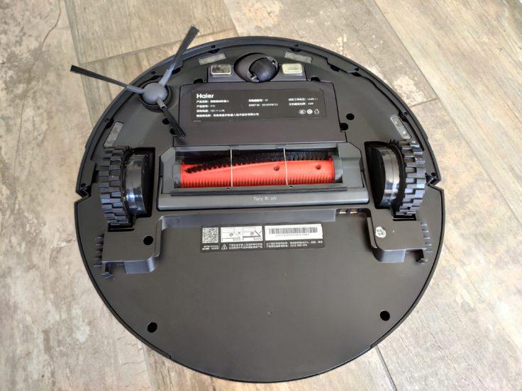 Parte de abajo del Robot aspirador Haier Tab Tabot