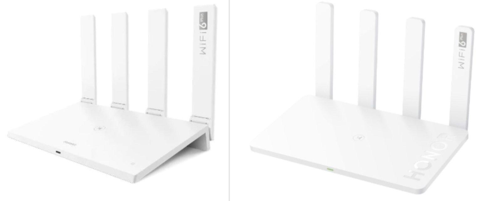 enrutador Honor Router 3 y enrutador Huawei AX3 con diseños casi iguales