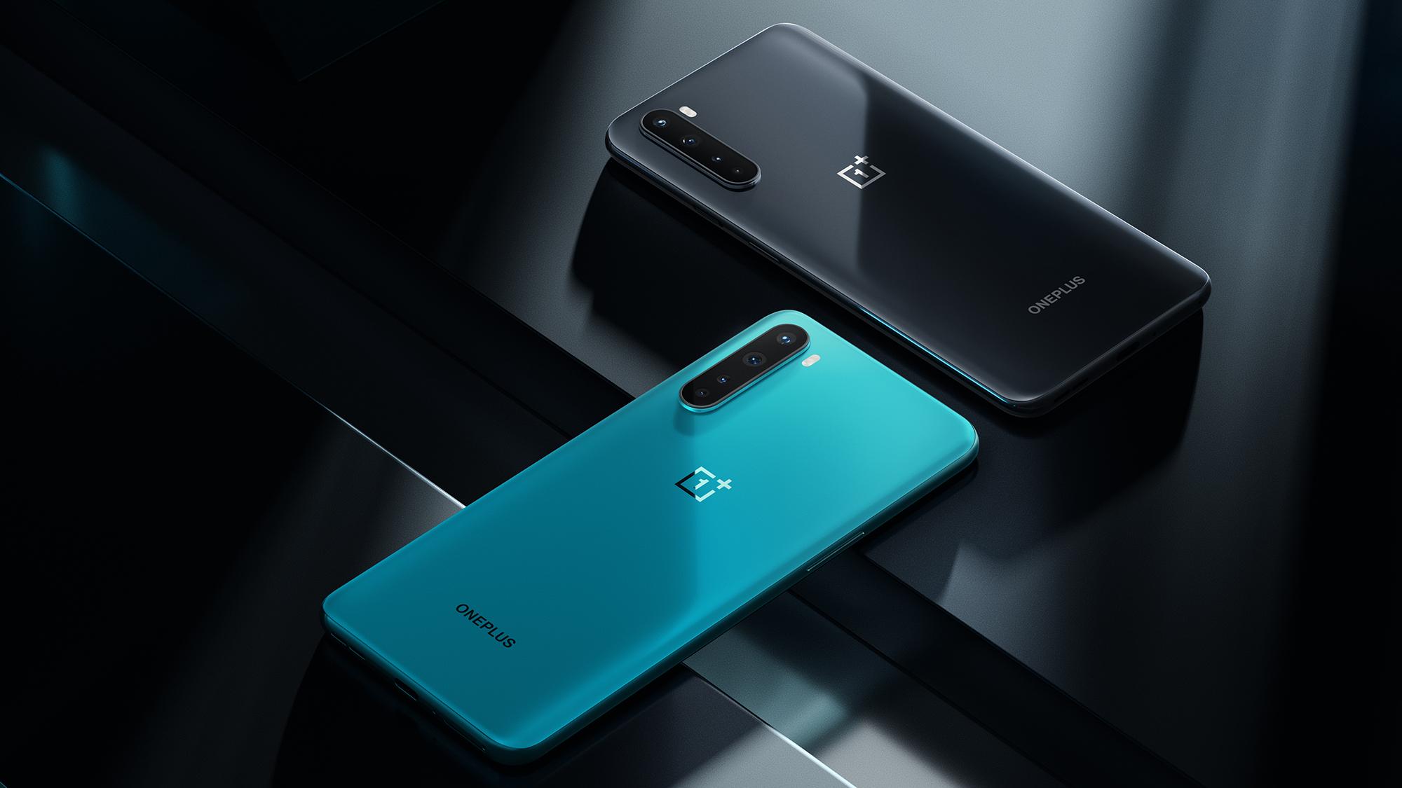 Dorso del OnePlus Nord Smartphone Dorso en azul y gris