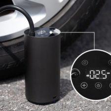Pantalla de la bomba de aire electrica Roidmi Mojietu Bomba de aire electrica hinchando rueda del coche