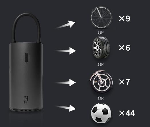 Capacidad de la bomba de aire eléctrica Roidmi MOJIETU