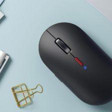 atón inalámbrico Xiaomi XiaoAI Smart Mouse en el escritorio