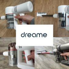 Diferentes modelos de aspiradoras inalámbricas Dreame