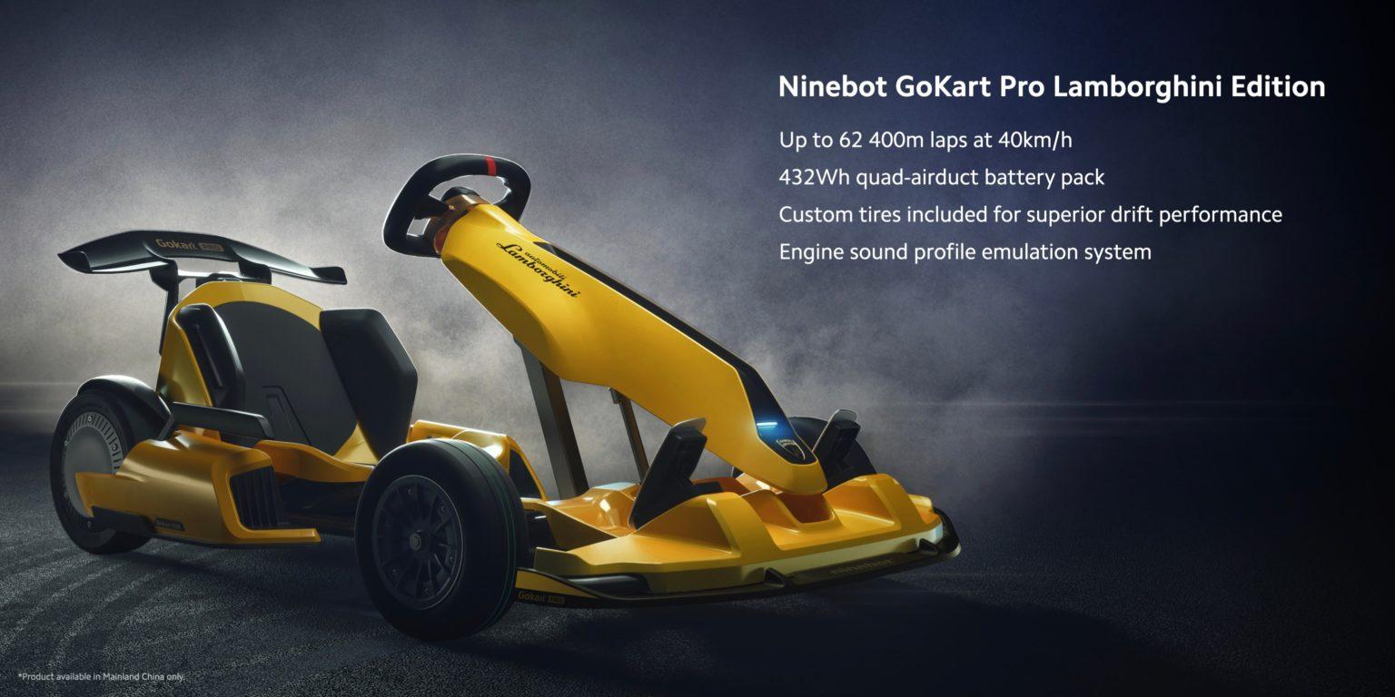 Especificaciones técnicas del Xiaomi Ninebot Lamborghini Kart