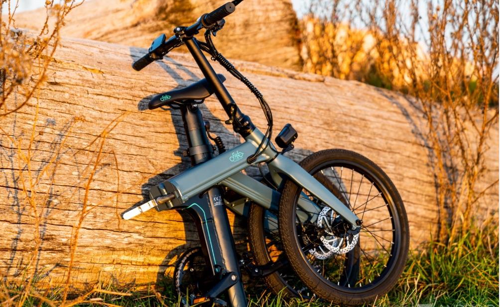 Bicicleta eléctrica FIIDO D11 plegada