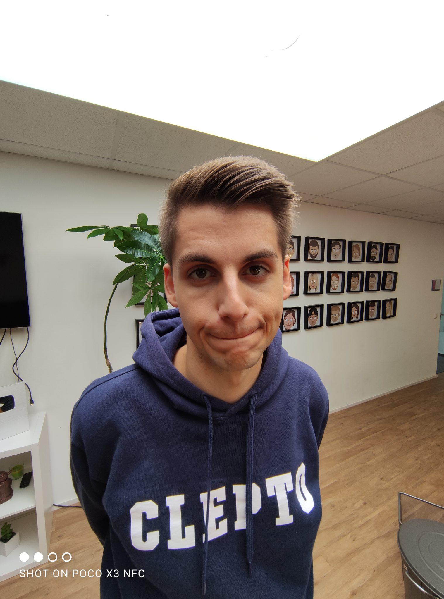 Foto de prueba de Thorben con la cámara ultra gran angular del Poco X3 NFC