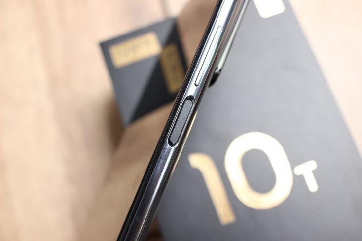 Sensor de huellas dactilares en el lateral del Xiaomi Mi 10T Pro