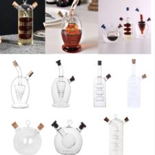 diferentes modelos de originales botellas para aceite y vinagre 2 en 1