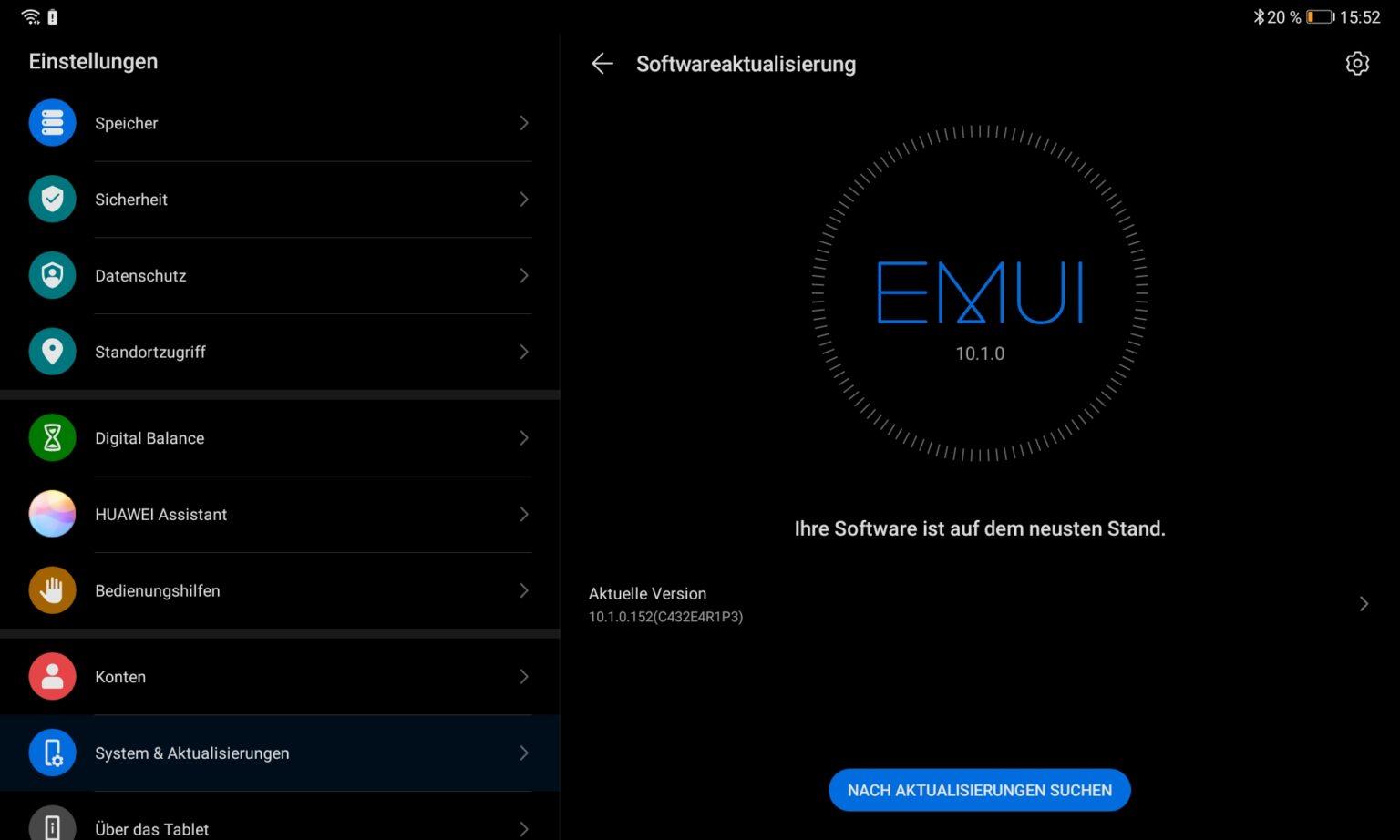 EMUI en la Tablet Huawei MatePad