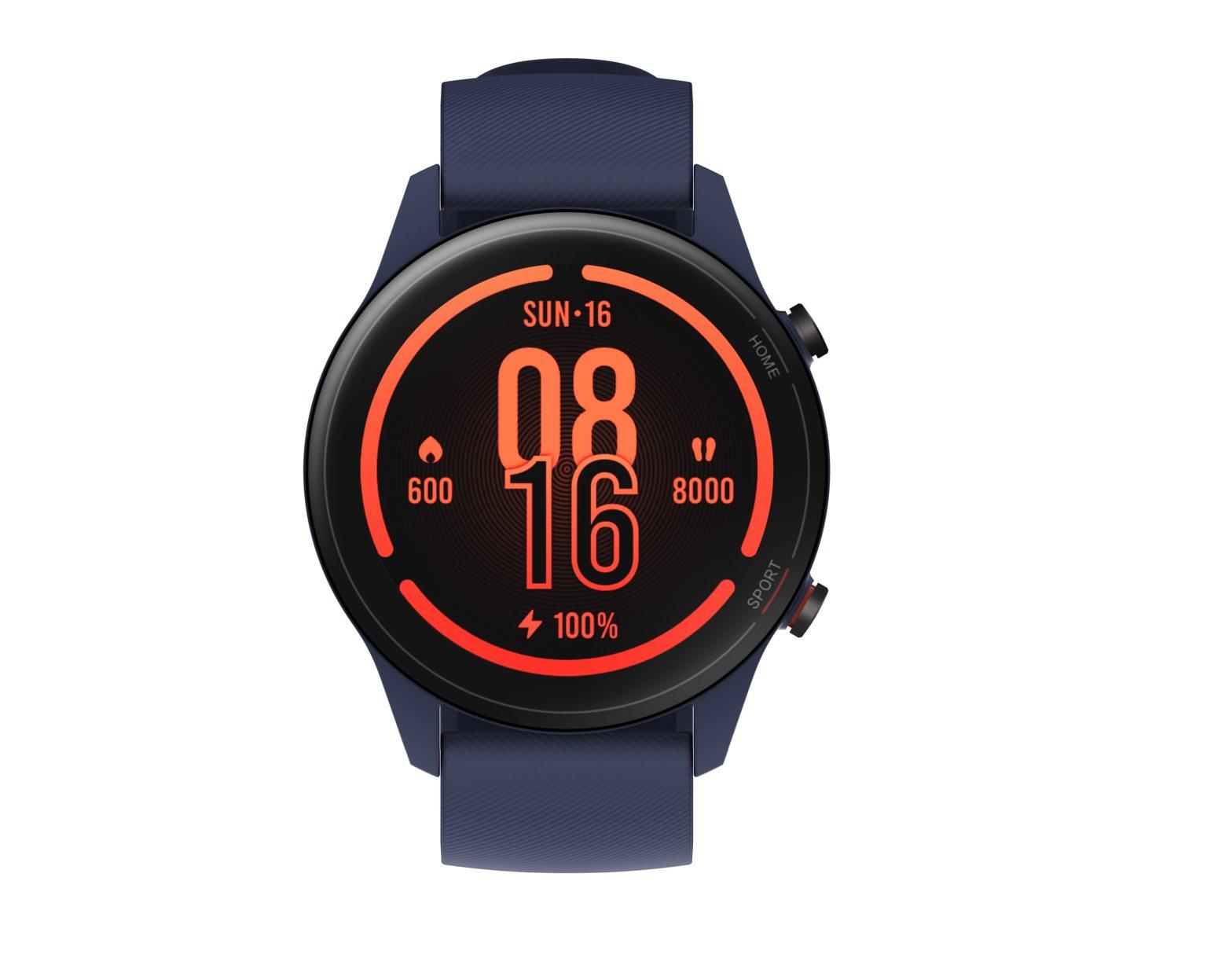 pantall del reloj inteligente Xiaomi Mi Watch en azul