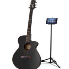 guitarra inteligente Poputar en negro