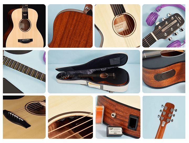 Detalles de la guitarra inteligente Poputar