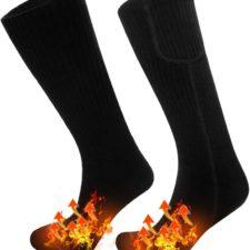 zonas de calentamiento de los calcetines calefactables