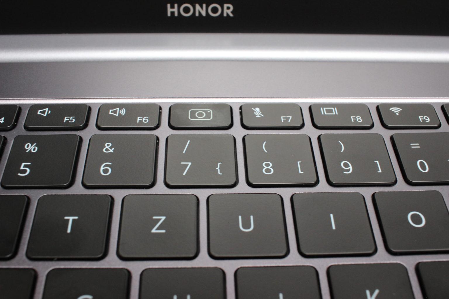 teclado del Honor MagicBook Pro