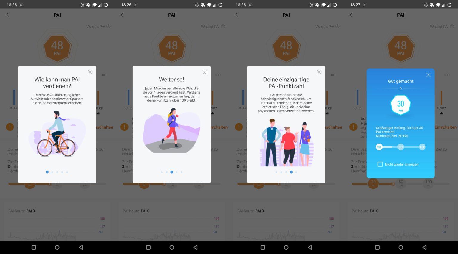 Función inteligente PAI en la App Mi Fit para la Xiaomi Mi Band 5