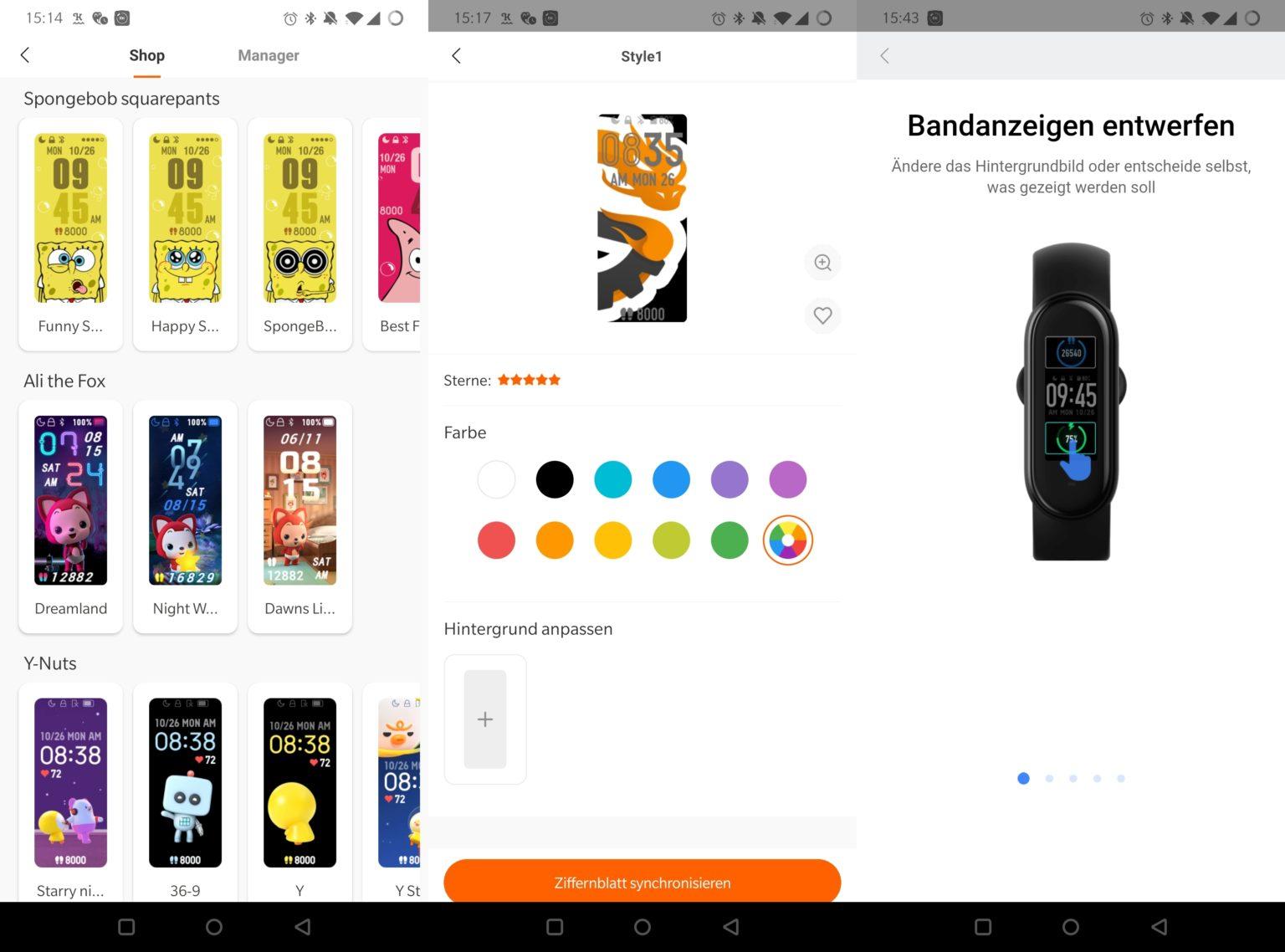 Esferas y widgets personalizables para la Xiaomi Mi Band 5