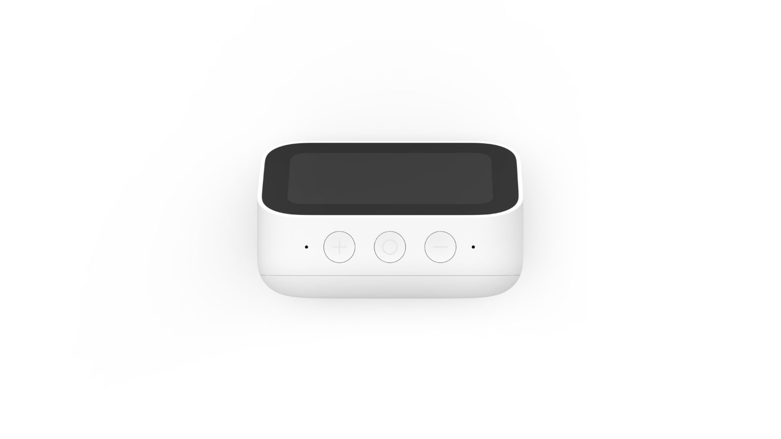 Botenes y micrófonos en la parte superior del reloj despertador Inteligente Xiaomi Mi Smart Clock